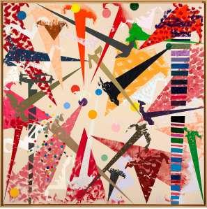 Noël Dolla, L'Échelle à bon Dieu, 2003 Peinture sur toile, 200 x 200 cm Photo François Fernandez (ADAGP)