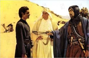 Omar Sharif, Peter  O'Toole  et  Anthony  Quinn  dans  Lawrence d'Arabie