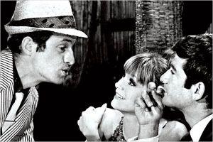 Jean -Paul Belmondo, Françoise  Dorleac et Jean Claude  Brialy   dans  La  Chasse  à  l'  Homme