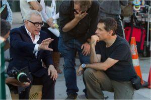 Martin Scorsese  sur le plateau de  tournage