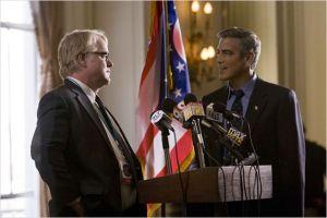 Philip Seymour  Hoffman et Geoges  Clooney  dans  Les Marches  du Pouvoir