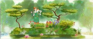 Tante  Hilda  dans  son musé des  Plantes   préservé de la pollution