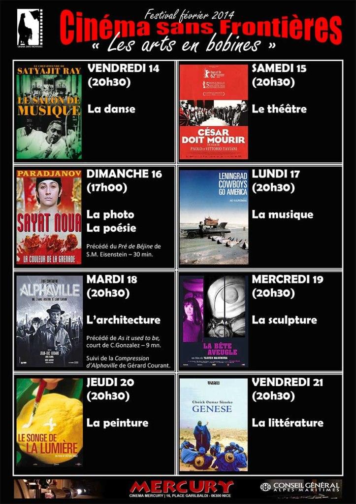 Affiche noire festival 2014