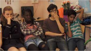 quatre  éléments  du groupe de  la classe  de d'accueil