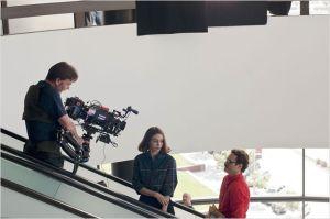 Joaquin Phoenix , Rooney  Mara  et Spike  Jonze   sur le tournage du  film
