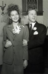 Mickey Rooney  et  Ava Gardner