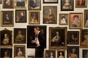 Les  portrait de  femmes  dans  le musée de  l'appartement de Virgil
