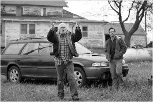 Bruce  Dern  et Will Forte  sur  la  route ...