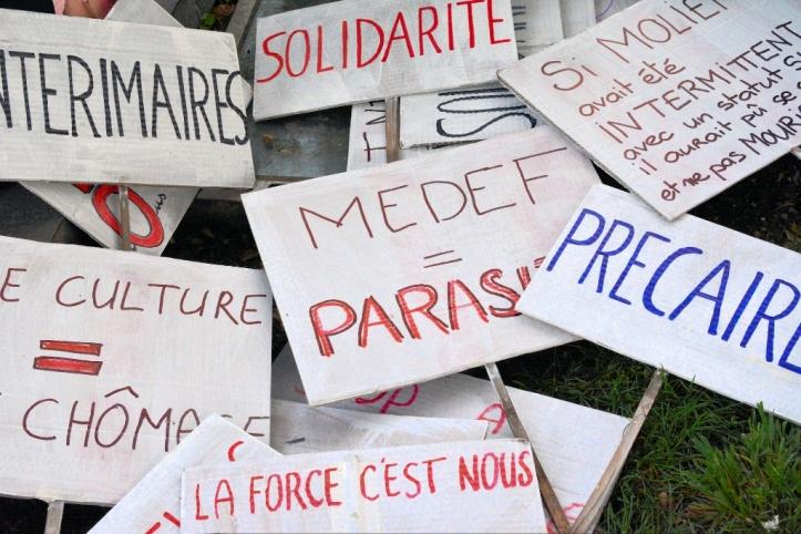 Les intermittents et défenseurs de la culture, se sont mobilisés dans les Alpes Maritimes (photo K.)