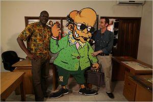 Les  Caricatiuristes   réunis : Zohoré ( Côte  d'Ivoire )  et  Glez  (  Burkina  Faso )