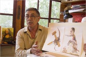 Mikhail  Zlatkovsky  le  caricaturiste  Russe
