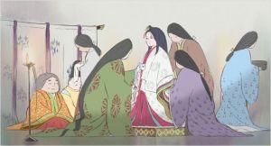 La princesse dans  Palais entouré des  domestiques qui    lui  font revêtir  ses   habits  d'apparat