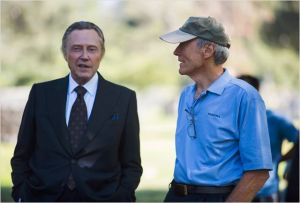 Christophe r Walken  et  Clint Eastwood  sur le tournage  du  film;