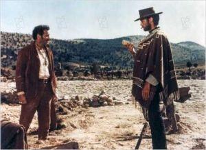 Eli Walalch  et Clint  Eastwood  dans  Le  Bon , La  brute  et Le  Truand  de  Sergio Leone