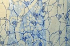 elisabeth alaria acrylique et broderie detail