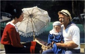 Shelly Duvall  et  Robin Willimas  dans  Popeye de  Robert Altman