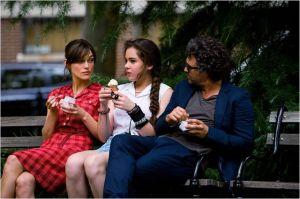 Keira  Knightley , Hailée Steinfeld  ( la  fille de Dan)  et Mark  Ruffalo .