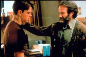 Matt Damon et  Robin Willimas  dans  Will Hunting de  Gus  Van Sant