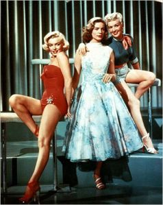 Lauren Bcall, Marilyn Monroe  et Betty Grable dans  Comment  épouser  un Millionnaire