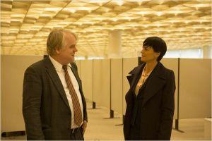 Philip Seymour Hoffman  et  Robin Wright (  la rivale des services secrets  Américains)