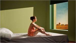 Tableau , femme  à la fenêtre