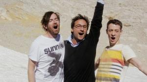 Les  trois  amis, de  gauche  à  droite : Raphaël Bouvet , Florian Carove et  Jonathan Capdevielle