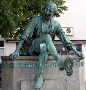 Statue de Till Eulenspiegel à Braunschweig (Allemagne)