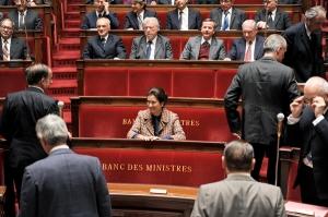 Le banc des  Ministres  à l'Assemblée