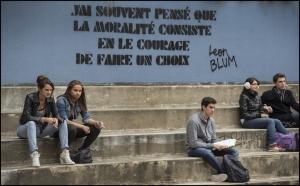le  lycée  Léon  Blum de  Créteil