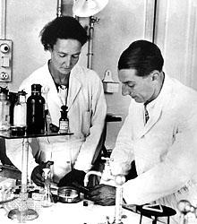 Irène  et Frédéric  Joliet-Curie