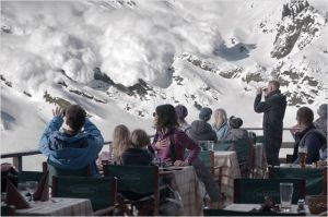 l'arrivée de l'avalanche