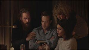 La  soirée  Thérapy , Johannes Bah Kunhke , Kristophe  Hivju (  à  gauche )  et   Lisa  Loven  Kogsli