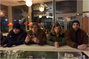 """M'Barek Blekouk ( Momo),  Pascal Demolon , Sarah Suco  et  Olivier  Bathélémy . en  pleine  attente de  La  préparation de  leur  """"coup"""""""