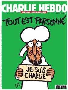 La Une du journal qui sort le 14 janvier 2015 après les attentats du 7 et 9 janvier.