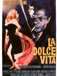 L'affiche de la Dolce Vita de Fellini