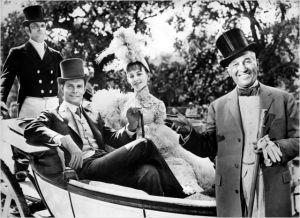 Louis  Jourdan , mauice  Chevalier , Leslie  Caron  dans  Gigi  de  Vincente  Minnelli