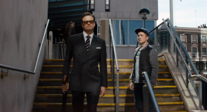 Harry ( Colin  Firth)  et Eggsy ( TaronEgerton)