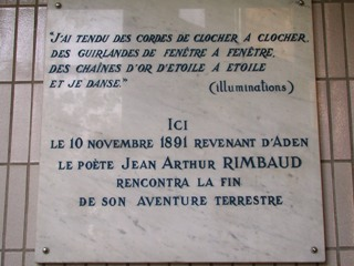 Rimbaud Hôpital de la Conception