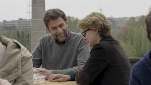 Nanni Moretti  et Margherita Buy  dans une scène de Mia  Madre