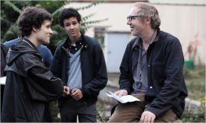 Photo de  tournage  ( à droite  Arnaud  Despléchin )