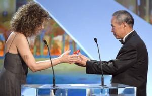 Hou Hsiao Hsien    - Prix de la Mise  en scène  pour  The  Assassin ( Photo -AFP / Valery Hache )