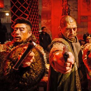 Une scène du film  -dans le camp des bandits