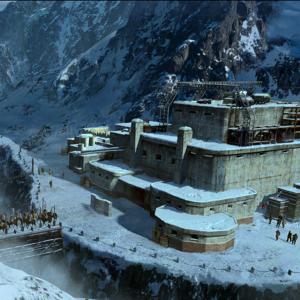 La forteresse  du chef des bandits,  sur  la montagne du tigre
