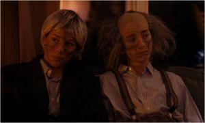 Mocrobe  et Gasoil   à  une soirée  où ils s'ennuient ...