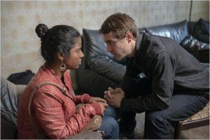 Yalini  ( Kaliesawari Srinivasan )  et  Brahim ( Vincent  Rottiers )