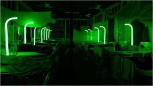 Les manifestations lumineuse nocturnes dans l'hôpital...