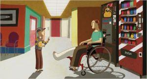 Léo  et le jeune Polcier  à l'hôpital