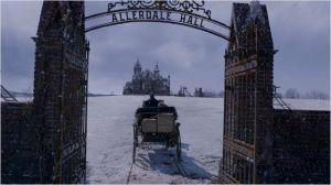 Le chemin vers le manoir Alberdall Hall,