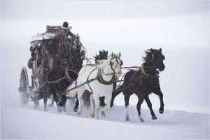 La dilengenc en route, sous la neige...