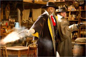 Samule L. Jackson et le ptétendu nouveau Sherif ( Walton Goggins )